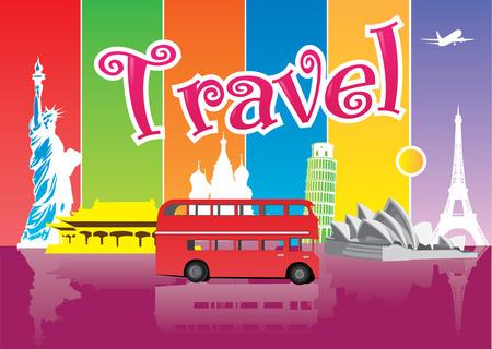 landmark: Travel Illustration