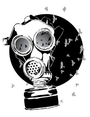 gas mask: M�scara de gas