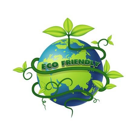 wereldbol groen: ECO vriendelijk vector