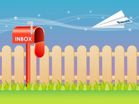 caixa de correio: E-mail e caixa postal vetor
