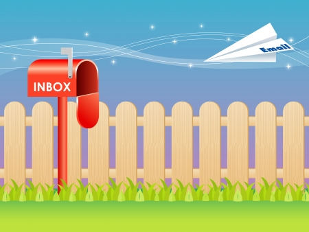Email and mailbox vector  Illustration