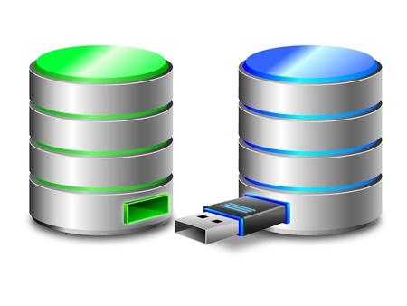 databank: Harde schijf back-up concept van
