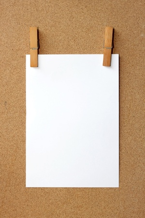 Clip and White blank note  Stock Photo