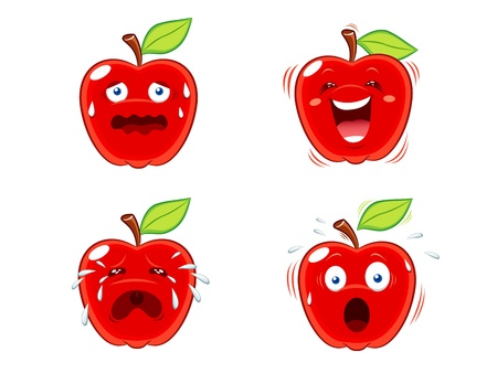 good nature: Apple expressions Illustration