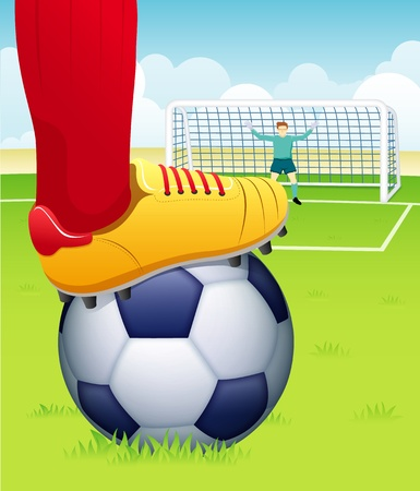 soccer boots: soccer player with ball