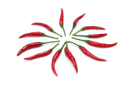 peper: Red chili isolated on white