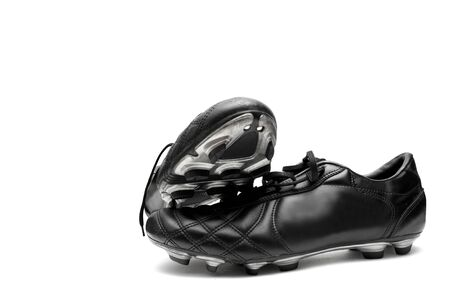 Soccer shoes isolated on white photo