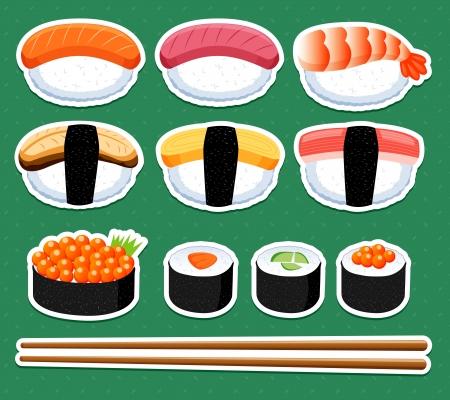 seaweeds: Sushi vector set Illustration
