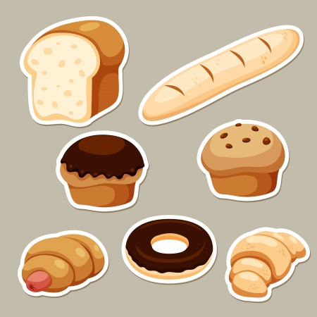 loaf of bread: Breads set