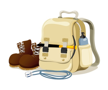 insulated drink container: hiking equipment Illustration