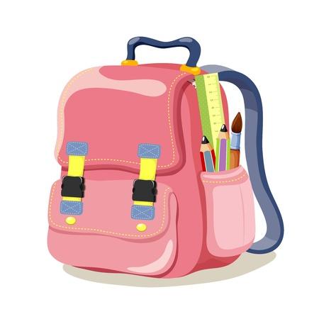 mochila escolar: Escuela de la mochila