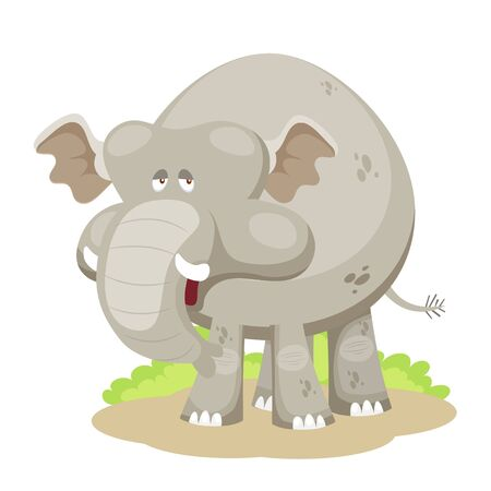 Cartoon elephant vector Vector