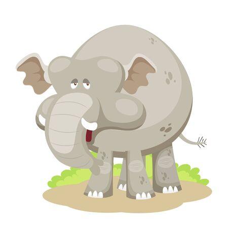 Cartoon elephant vector Vector