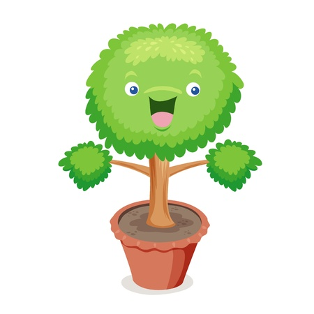 Tree cartoon  Stock Vector - 14496911