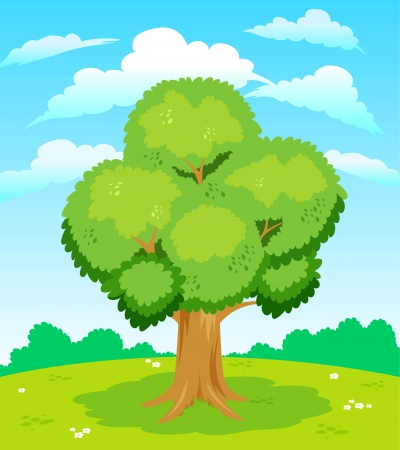 Large tree Stock Vector - 14496882
