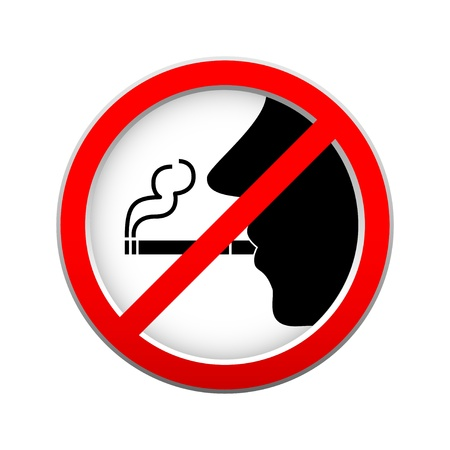 No smoking sign on white background Stock Vector - 14496880