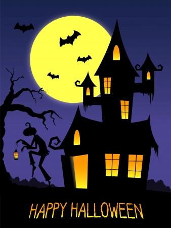 brujas caricatura: Feliz Halloween ilustración