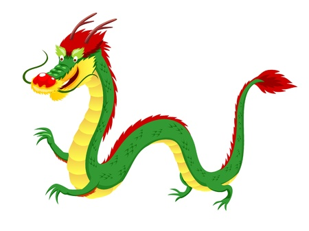 Dragon vector isolated on white Stock Vector - 14536897