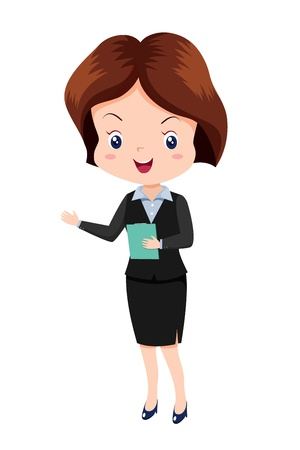 Cute business woman Stock Vector - 14579822