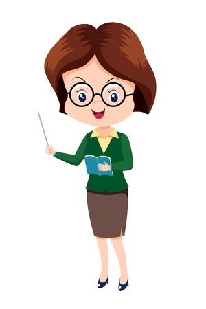 Cute woman Teacher Vektoros illusztráció