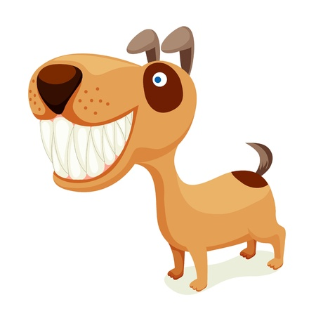 Dog isolated on white Stock Vector - 14643176