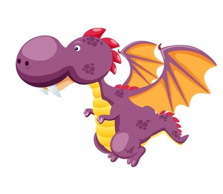 cute dragon: Dragon flying