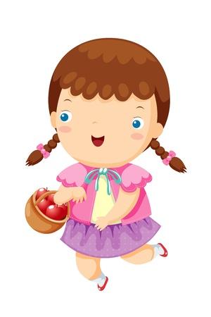 Little girl  Vector
