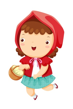 little red riding hood: Cappuccetto Rosso Vettoriali