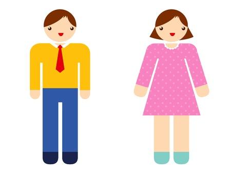man vrouw symbool: Toilet Borden