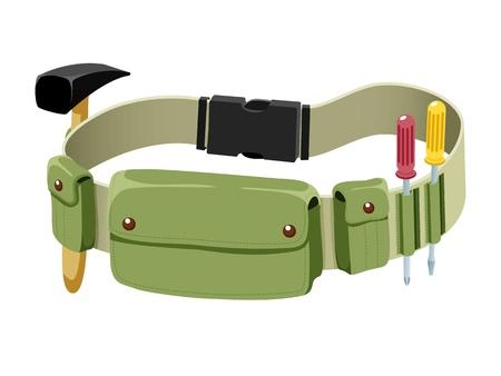 suede belt: Herramientas cintur�n aislado en blanco