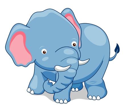 Cute Elephant Stock Vector - 14643197