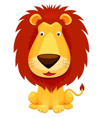 lion drawing: Leone isolato su bianco