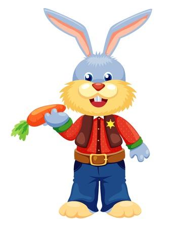 Rabbit cartoon vector isolated on white Stock Vector - 14677101