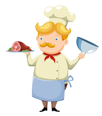 nutrition icon: Cartoon chef vector Illustration