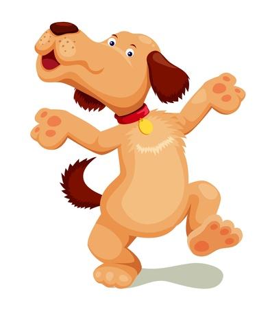 perro caricatura: Perro de dibujos animados vector Vectores