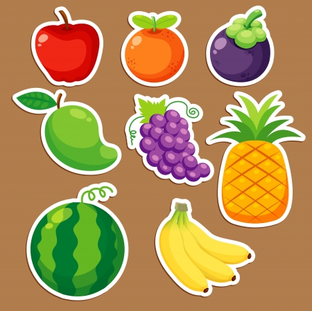 Fruits set vector Vector