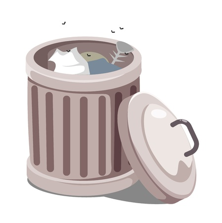 Trash can vector Vector