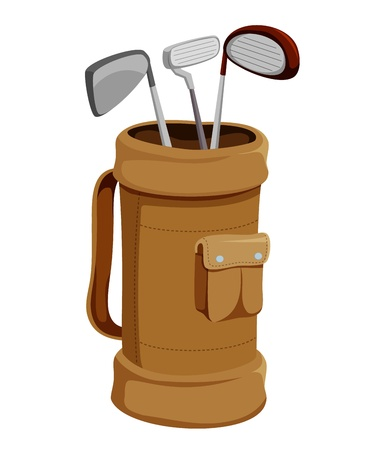 golf swings: Golf Clubs  Illustration