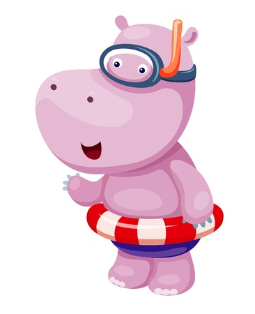 hipopotamo dibujos animados: Hipopótamo Vectores