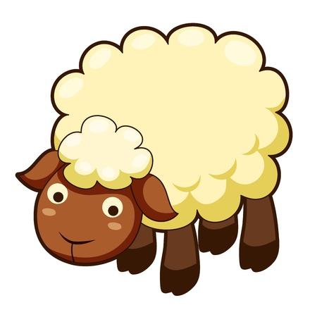 and sheep: Linda de las ovejas Vectores