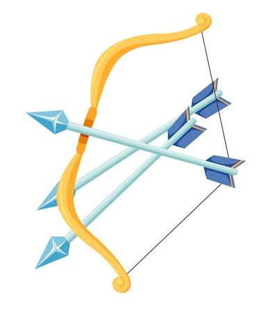 arco y flecha: Arquero Vectores