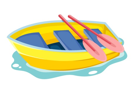 illustration boat isolated on white Vector