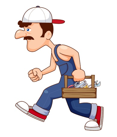 Construction Worker With tools Vector