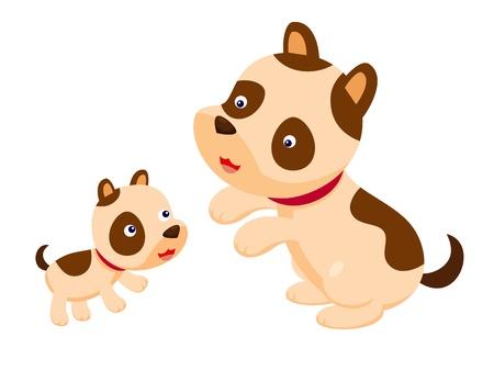 hound: Cute dog  Illustration
