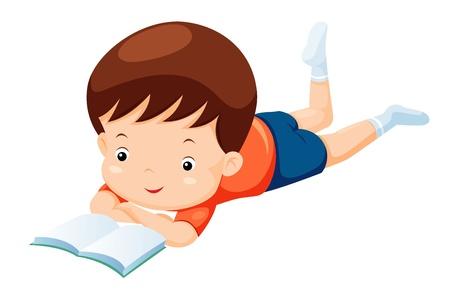 kids reading book: kids reading book Illustration
