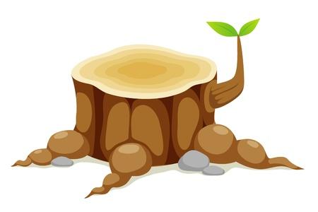 트렁크스: 나무 그루터기 일러스트