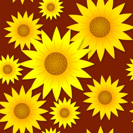 Sunflowers pattern Vector