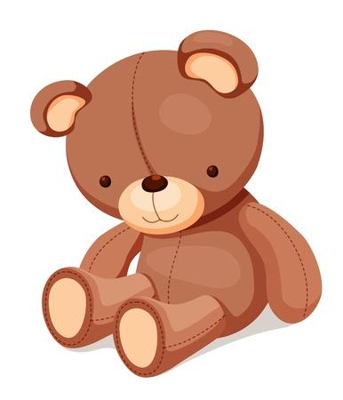 oso blanco: Juguetes - Teddy bear Vectores