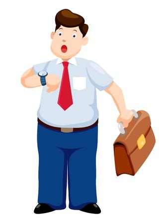 businesslike: Hombre de negocios que se tarde viendo la hora