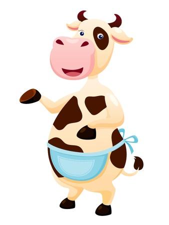grazing: Cow cartoon Illustration